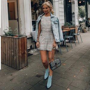NWT Zara Tweed Sleeveless Jumpsuit M